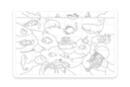 Puzzle 30 pièces à colorier - La mer - Puzzle à colorier, dessiner ou peindre 19403 - 10doigts.fr