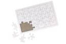 Puzzle 30 pièces en carton blanc - lot de 10 - Puzzles à colorier 40609 - 10doigts.fr