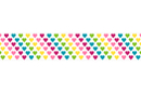 Ruban adhésif fantaisie : Coeurs arc-en-ciel - Rubans et adhésifs 32012 - 10doigts.fr