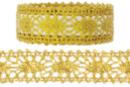 Ruban dentelle adhésif métallisé - Doré - Rubans et ficelles 27854 - 10doigts.fr