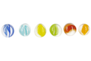 Galets en verre transparent effet œil de chat - Sachet de 1 kg (200 galets) - Mosaïques verre 31154 - 10doigts.fr