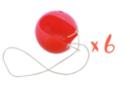 Nez de clown + élastiques - Lot de 6 - Mardi gras, carnaval 33176 - 10doigts.fr