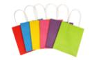 Sacs en papier en kraft multicolores - 6 sacs colorés - Papiers Cadeaux 29647 - 10doigts.fr