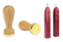 Sceau coeur + 2 bâtons de cire - Tampons classiques 36014 - 10doigts.fr