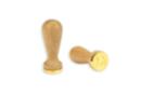 sceau coeur en bois pour cire - Tampons classiques 36012 - 10doigts.fr