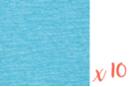 Papier crépon bleu 2 m x 50 cm - Lot de 10 feuilles - Papiers de crépon 41164 - 10doigts.fr