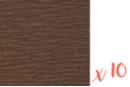 Papier crépon brun 2 m x 50 cm - Lot de 10 feuilles - Papiers de crépon 41166 - 10doigts.fr