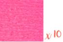 Papier crépon rose fluo 2 m x 50 cm - Lot de 10 feuilles - Papiers de crépon 41168 - 10doigts.fr