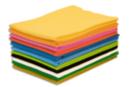 Feutrine 50 x 70 cm -  10 couleurs assorties - Feutrage 10484 - 10doigts.fr