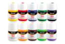 Peintures textile, flacon 50 ml - 10 couleurs - Peinture Tissu 31084 - 10doigts.fr