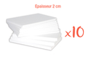 Plaques en polystyrène 20 x 30 cm - Épaisseur : 2 cm - 10 plaques - Plaques et panneaux 02485 - 10doigts.fr