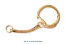 Porte-clés dorés - Lot de 10 - Porte-clés pour bijoux - 10doigts.fr