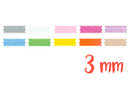 Rubans en satin (largeur 3 mm), 10 couleurs - 3 m - Rubans et ficelles - 10doigts.fr