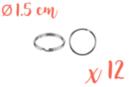 Anneaux brisés Ø 1,5 cm - Lot de 12 - Porte-clés pour bijoux - 10doigts.fr