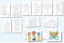 Set de 12 cartes à décorer pour flocons de maïs - Flocons de maïs - 10doigts.fr