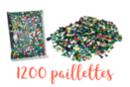 Sequins couleurs assorties - Set de 1200 sequins - Sequins 10299 - 10doigts.fr