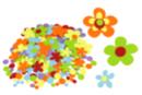 Stickers en feutrine fleurs - 150 formes - Formes en Feutrine Autocollante - 10doigts.fr