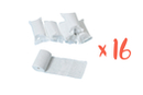Bandes plâtrées blanches - Lot de 16 - Plâtre 40543 - 10doigts.fr
