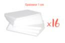 Plaques en polystyrène 20 x 30 cm - Épaisseur : 1 cm - 16 plaques - Plaques et panneaux 02484 - 10doigts.fr