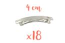 Barrettes à cheveux 4 cm x 0,6 cm - Lot de 18 - Accessoires pour plastique magique 13613 - 10doigts.fr