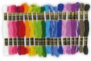 Echevettes couleurs vives - 1 set de 20 - Fils - 10doigts.fr