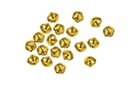 Grelots dorés ø 6mm - 20 pièces - Grelots et clochettes 09517 - 10doigts.fr
