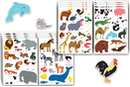 Gommettes animaux  - 16 planches (212 maxi gommettes) - Gommettes Animaux 18086 - 10doigts.fr