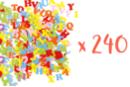 Lettres en feutrine adhésive - 3 sets (240 stickers) - Formes en Feutrine Autocollante - 10doigts.fr