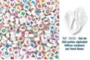 Perles rondes alphabet multicolore - 250 perles - Perles Alphabet - 10doigts.fr