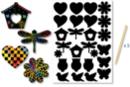 Stickers à gratter 1 planche de 26 gommettes+ 3 grattoirs - Cartes à gratter 18774 - 10doigts.fr