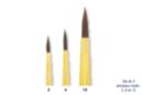 Pinceaux synthétiques à pointe ronde - Set de  3 pinceaux  N°  : 2, 6 et 12 - Pinceaux poils synthétiques - 10doigts.fr