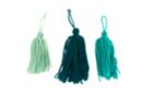 Pompons long en laine camaïeu  - 3 pompons - Pompons 41032 - 10doigts.fr