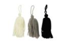Pompons long en laine camaïeu noir et blanc - 3 pompons - Pompons 41033 - 10doigts.fr