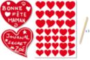 Stickers à gratter 1 planche de 32 gommettes+ 3 grattoirs - Cartes à gratter 18784 - 10doigts.fr