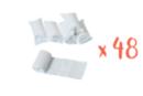Bandes plâtrées blanches - Lot de 48 - Plâtre 31112 - 10doigts.fr