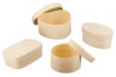 Boîtes formes assorties : ronde, ovale, coeur et rectangle - Set de 4 - Boîtes et coffrets - 10doigts.fr