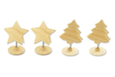 Clips mémo assortis - Set de 4 (2 étoiles + 2 sapins) - Divers 37405 - 10doigts.fr