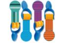 Rouleaux à empreintes assorties - 4 formes - Dessin 1er âge 04514 - 10doigts.fr