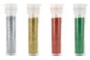 Set de 4 tubes de paillettes : or, argent, rouge et vert - Paillettes à saupoudrer 12900 - 10doigts.fr