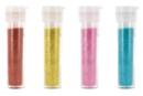 Set de 4 tubes de paillettes : turquoise, rouge, jaune et rose - Paillettes à saupoudrer 10614 - 10doigts.fr