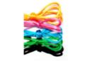 Cordons en satin couleurs vives - 5 cordons de 1 m - Fils en Satin et queue de rat - 10doigts.fr