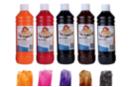 Peinture pour vitres : orange, rose, violet, marron, noir - Set de 5 couleurs - Peinture Verre et Faïence 06722 - 10doigts.fr