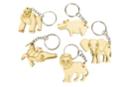 Porte-clés en bois - 5 animaux Savane - Porte-clefs en bois 34134 - 10doigts.fr