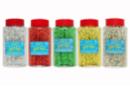 Maxi pots de paillettes à saupoudrer - Set de 5 pots - Paillettes à saupoudrer 32222 - 10doigts.fr