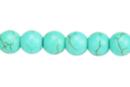 Perles rondes Ø 8 mm - Turquoise - 48 perles - Perles Lithothérapie 31056 - 10doigts.fr
