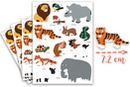 Gommettes animaux 1 - 4 planches (52 maxi gommettes) - Gommettes Animaux 18070 - 10doigts.fr