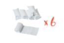 Bandes plâtrées blanches - Lot de 6 - Plâtre - 10doigts.fr