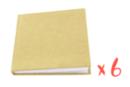 Carnets kraft avec couverture pleine - Lot de 6 - Albums photos, carnets 16049 - 10doigts.fr