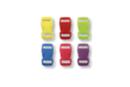 Fermoir à clip couleurs assorties - Set de 6 - Fermoirs 19298 - 10doigts.fr