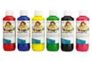 Peinture textile, flacon de 250 ml - 6 couleurs classiques - Peinture Tissu 31074 - 10doigts.fr